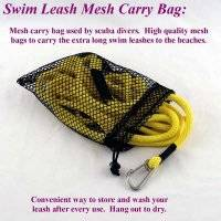 "Nylon Mesh Storage and Drying Bag - 15"" by 22"" Leash Storage Bag"