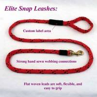 "Dog Snap Leashes - 3/4"" Snap Leashes (Flat Weave/Nickel)"