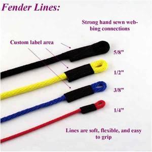 """Soft Lines, Inc. - 7' Boat Fender Line 3/8"""""""