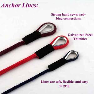 Soft Lines, Inc. - 150' Boat Anchor Line 1/2""