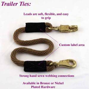 Soft Lines, Inc. - 3.5 ft. Horse Trailer Tie 1/2 in. Round with Nickel Plated Bull and Panic Snap