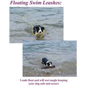 """Soft Lines, Inc. - 50 Foot Swimming Dog Snap Leash 1/4"""" Round"""