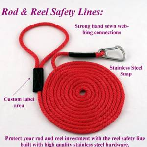 "Soft Lines, Inc. - 3' Fishing Rod & Reel Safety Line (3/8"" Round Polypropylene Rope)"
