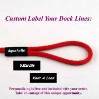 Boat fender lines, boat fender lines with personalized label
