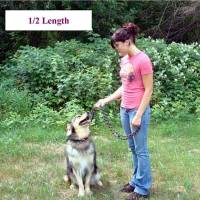 dog leashes for training, arthritic and handicap friendly dog leashes, multi purpose dog leash shown at 1/2 length