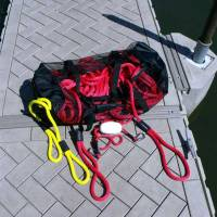 Nylon Mesh Storage and Drying Bags - Mesh Duffle Storage Bag - Soft Lines, Inc. - Mesh Duffle Storage Bag for Boat Dock Lines