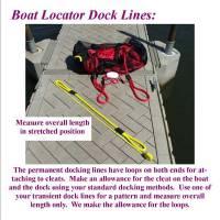Boat locator dock lines, permanent boat dock lines information sheet