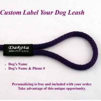 Training Dog Slip Leash/Slip Lead 8 Ft - Personalized Custom Labeling