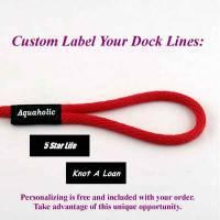 10 Ft Boat Mooring Line/Dock Line Custom Labeling