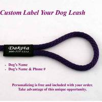 8 Ft Dog Snap Leash/Snap Lead - 1/2 Round Custom Label