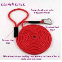 "Floating Boat Launch Lines - 3/8"" Diameter - Soft Lines, Inc. - 20' Boat Launch Line 3/8"""