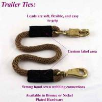 Horse - Trailer Ties - Soft Lines, Inc. - 3.5 ft. Horse Trailer Tie 1/2 in. Round with Nickel Plated Bull and Panic Snap