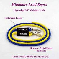 4 ft. Miniature Horse Lead Rope 3/8 in. Round with Nickel Plated Bolt Snap