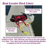 "7' Boat Locator Dock Lines 1/2"""