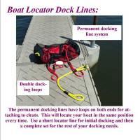 "22' Boat Locator Dock Lines 1/2"""