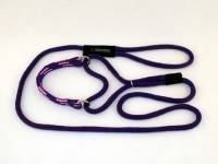 Martingale Adjustable Dog Leash - Purple with Purple Pink Band