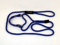 Martingale Adjustable Dog Leash - Royal with Royal Yellow Band