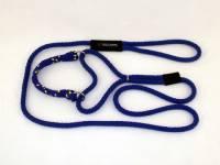 Martingale Adjustable Dog Leash - Royal with Royal Yellow Band