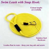 yellow swim snap leash