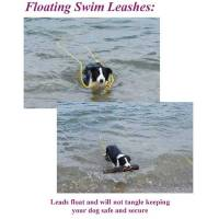 "Stainless Steel Spring Hook Leashes - 1/2"" Diameter - Soft Lines, Inc. - 20 Foot Swimming Dog Snap Leash 1/2"" Round"