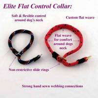 "Dog Leashes and Collars for Training - Slip Control Dog Collars - 3/4"" Flat Weave Training Dog Slip Collars (Polypropylene)"