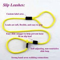 "Hunting Dog Leashes and Collars - Slip Leashes for Hunting Dogs - 3/8"" Round Slip Leashes for Hunting Dogs (Polypropylene)"