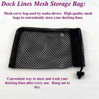 "Mesh storage bag for dock lines, 8"" by 10"" dock lines mesh storage bag"
