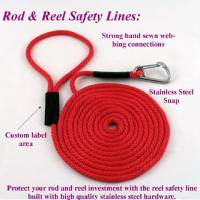 "Boats - Fishing Rod and Reel Safety Lines - Soft Lines, Inc. - 3' Fishing Rod & Reel Safety Line (3/8"" Round Polypropylene Rope)"